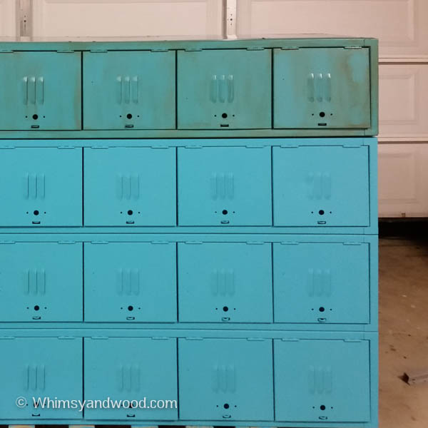 paint process for painted metal lockers