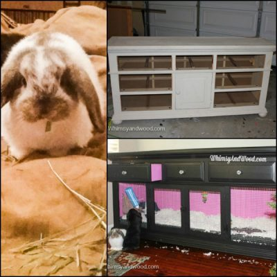 Dresser to Bunny Hutch Makeover