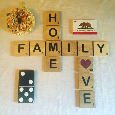 Scrabble Tile Gallery Wall