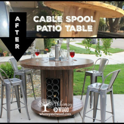 Cable Spool Patio Set, High End Upcycled Cable Spool