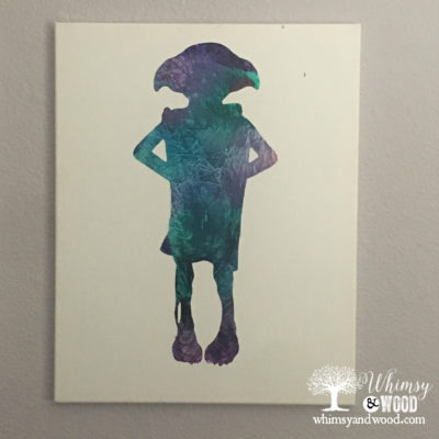 Kids Love this Tie Dye Silhouette Art