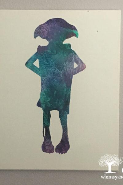 Vibrant Splatter Art with Becca, Dobby Silhouette Art