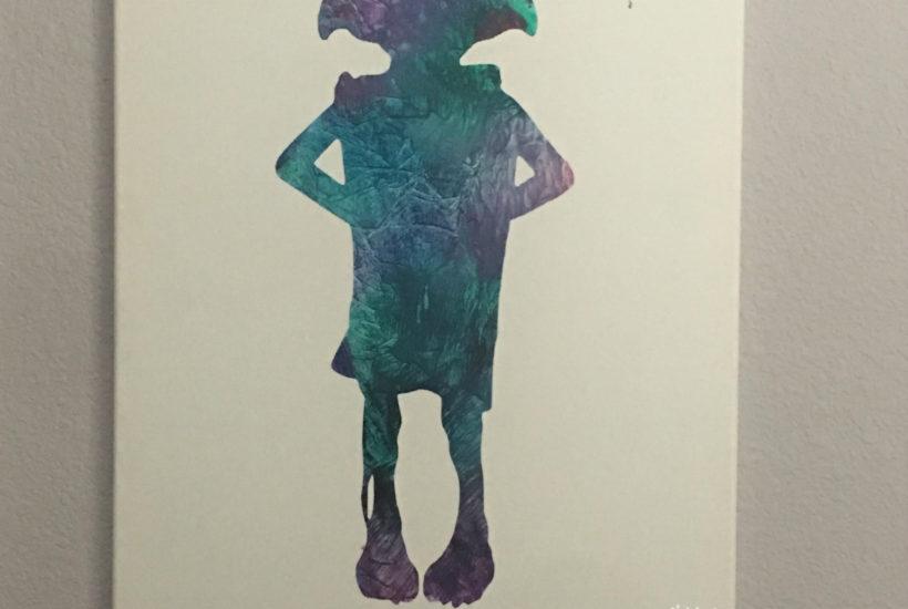 Vibrant Splatter art with kids
