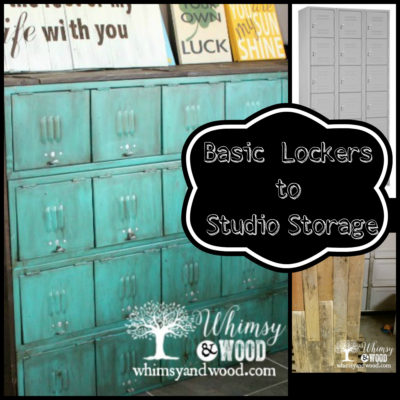 Painted Metal Lockers for Studio Storage Upcycle