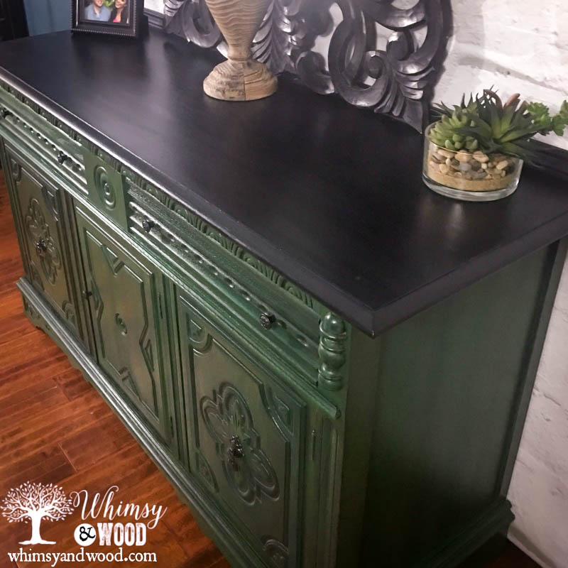 Blend Paint Colors painted_blended_green_buffet-3