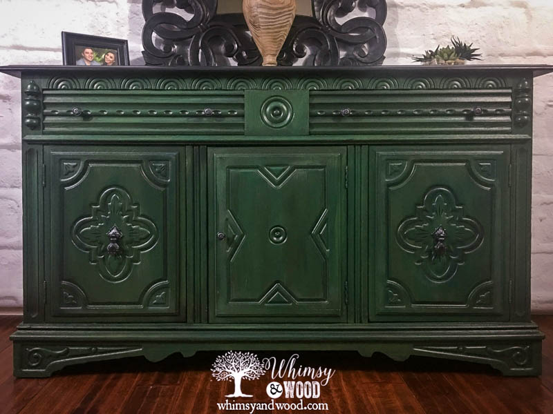 Blend Paint Colors-painted_blended_green_buffet