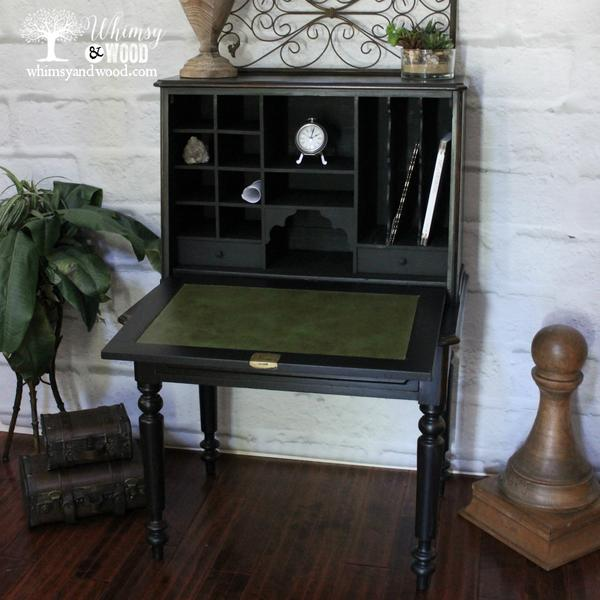 Top Antique American, Painted Walnut Breakfront Desk - Whimsy and Wood NB42