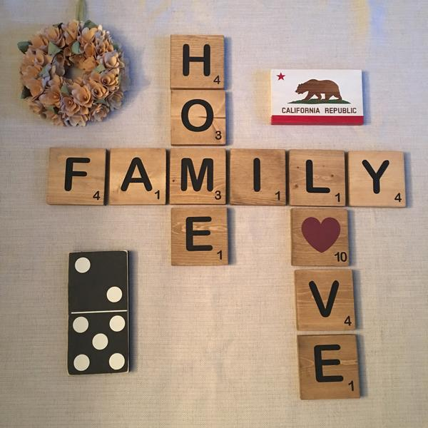 Wall scrabble tiles tile design ideas for Large scrabble letters wall decor