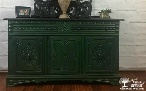 Blend Paint Colors-Blended Green Buffet close up