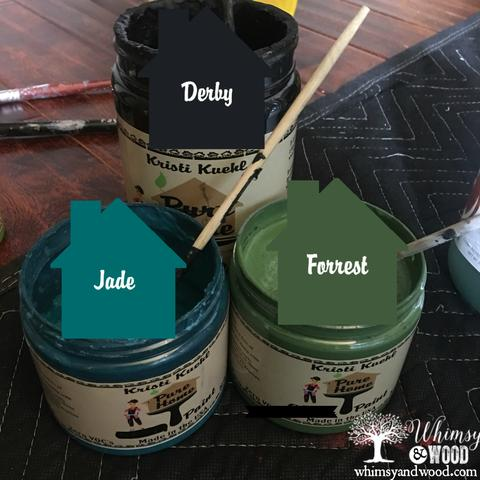 Blend Paint Colors-blended green buffet colors used