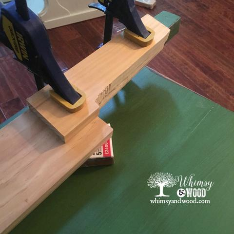 damaged desk: sanding the cure into the new leg