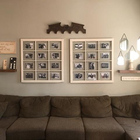 hung photo of window picture frame