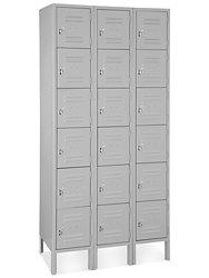 basic metal lockers set of 3