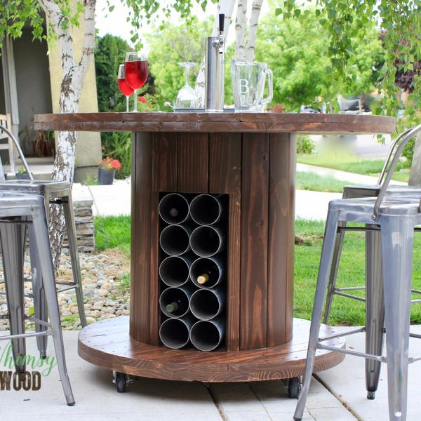 How To Make This Cable Spool Patio Set Whimsy And Wood