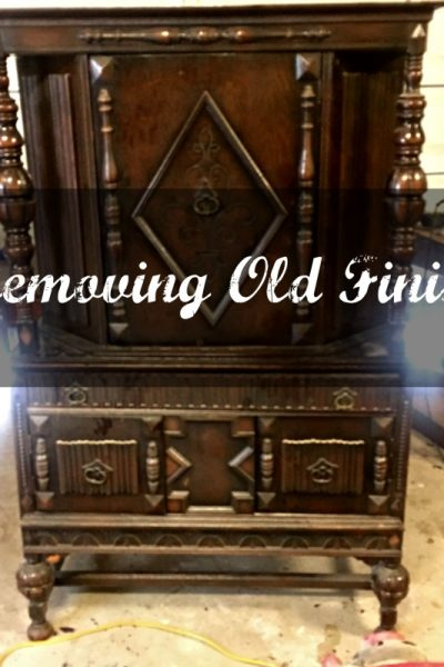 Remove Finish From Old Wood Furniture-Jacobean Hutch Update Step 1
