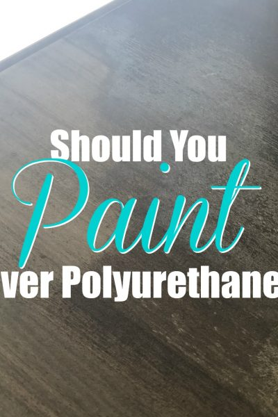 Should you paint over polyurethane cover