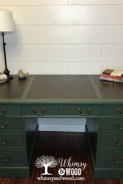 faux leather desk top after