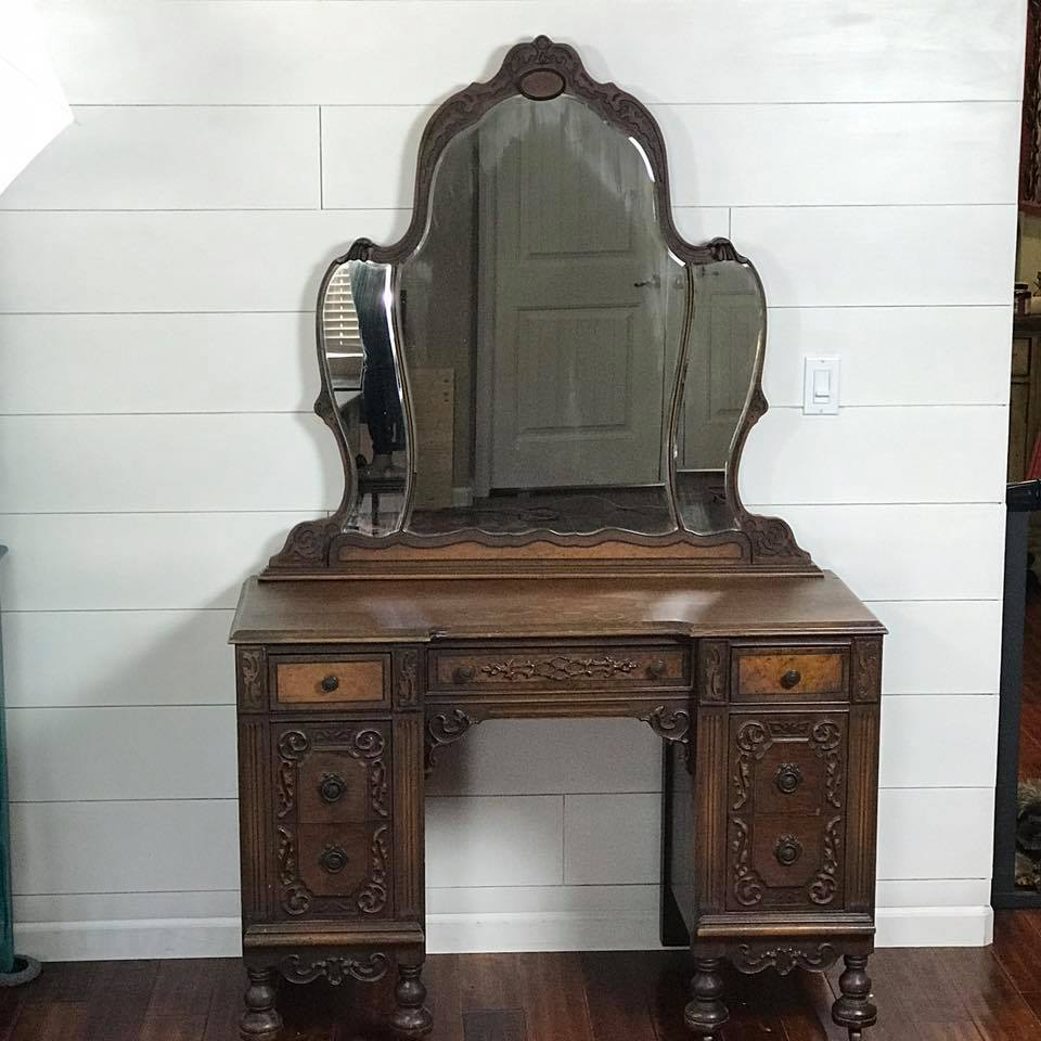 Antique Vanity Before
