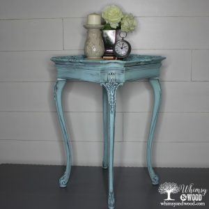Dainty painted side table
