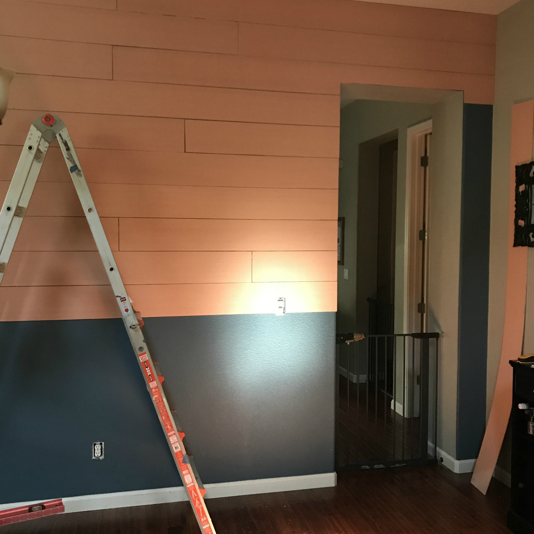 shiplap being nailed in place