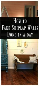 Fake Shiplap in a day-Whimsy and Wood