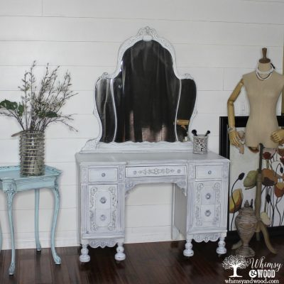 White Painted Antique Vanity
