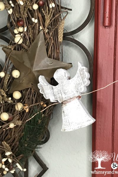 Rustic Angel and Copper Garland