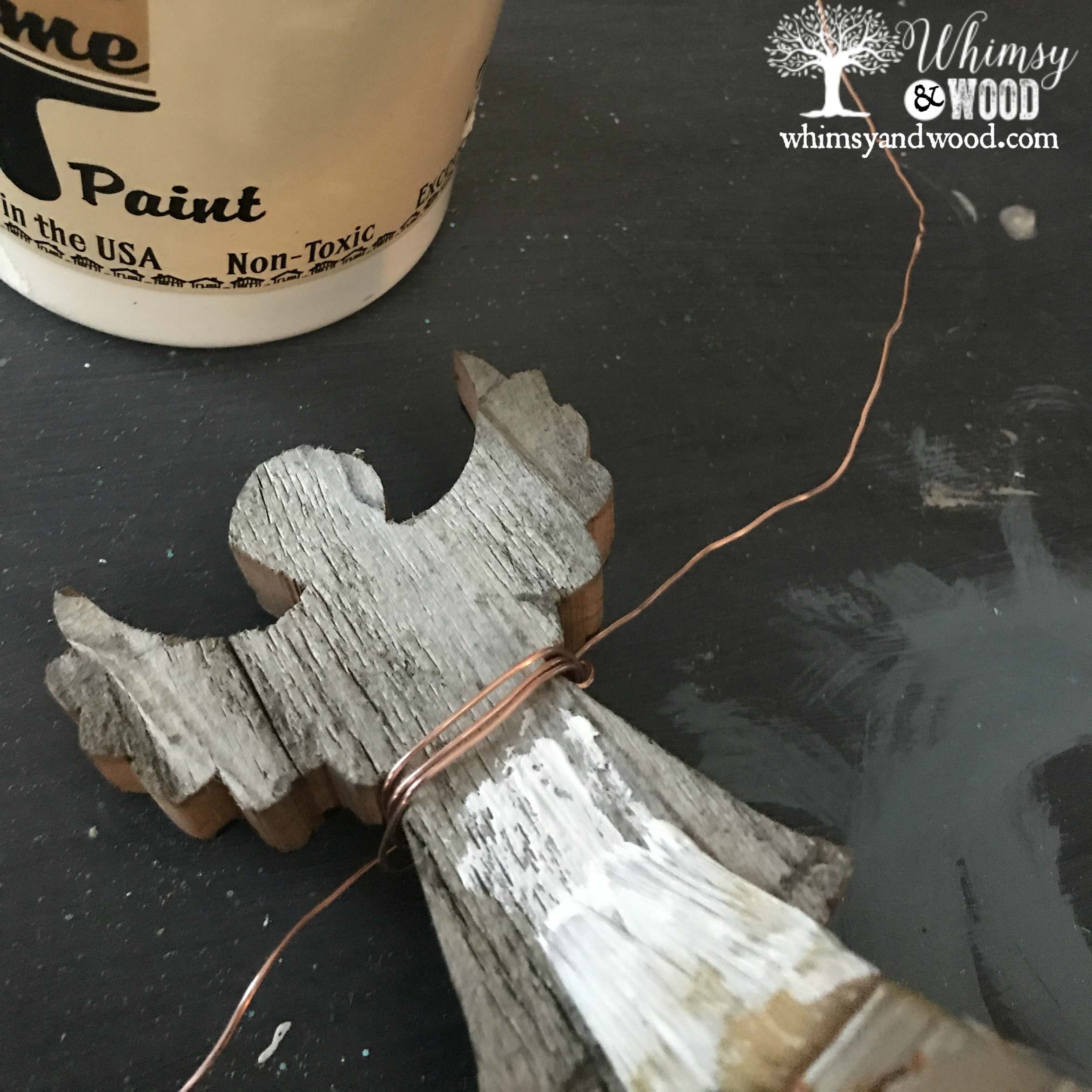 Painting your rustic angel