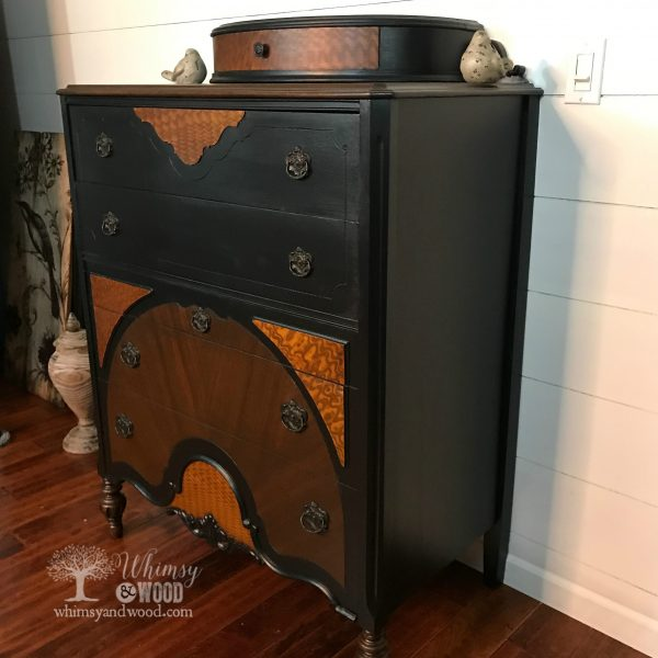 beautiful painted dresser side view