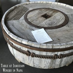 napa valley winery table inspiratuion