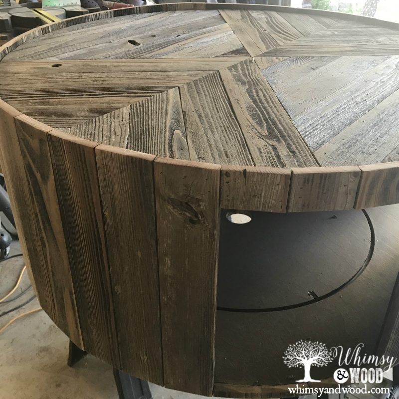 Reclaimed wood coffee table-adding sides