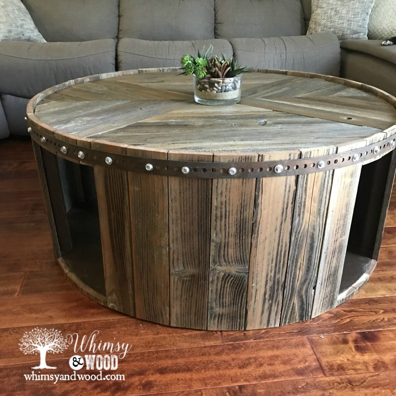 Borrego Round Reclaimed Wood Coffee table Whimsy and Wood