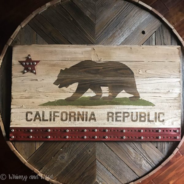 Industrial California flag art