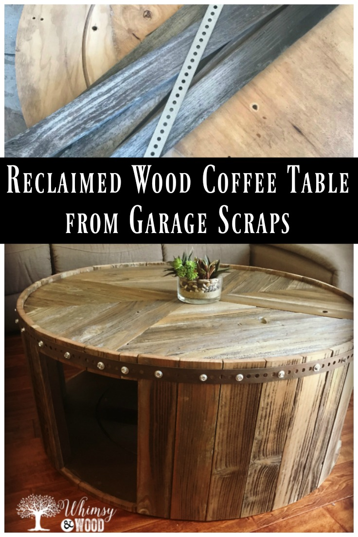 How to Make This DIY Reclaimed Wood Coffee Table - Whimsy and Wood