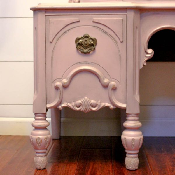 Dusty Rose Painted Vanity-3