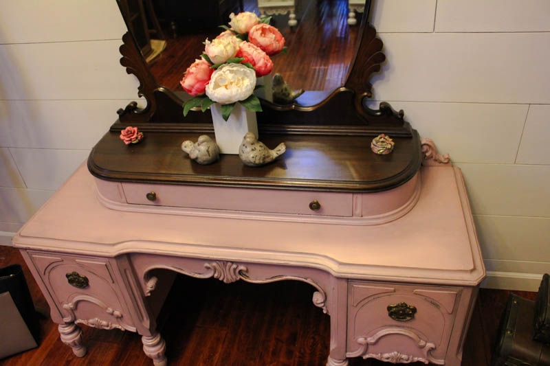 Never Grow Up Pink Painted Vanity-4