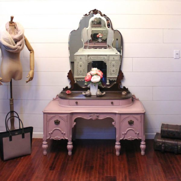 Dusty Rose Painted Vanity 5