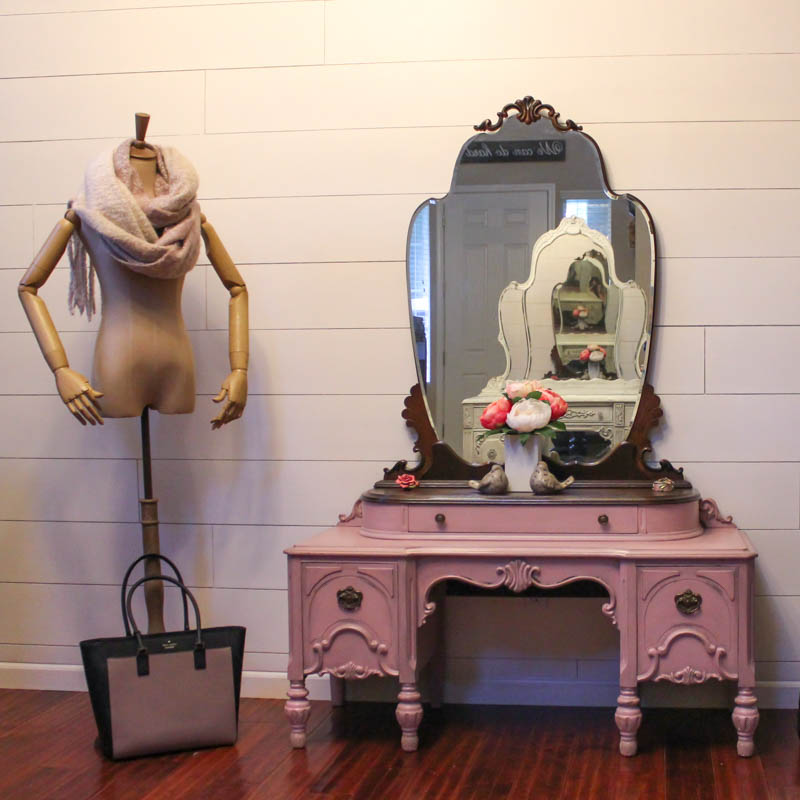 Never Grow Up Pink Vintage Bassett Vanity