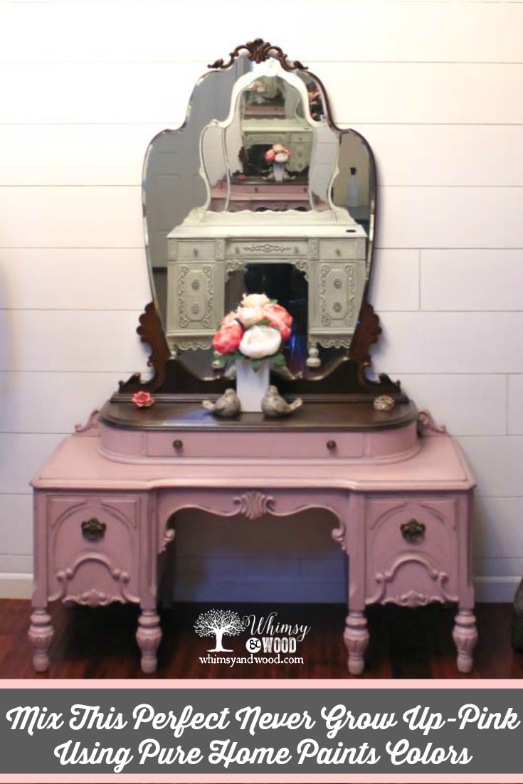 I love a beautiful vanity & especially this perfect Never Grow Up Pink Vanity.