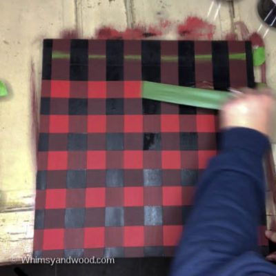 How to Paint a Buffalo Check Plaid Background