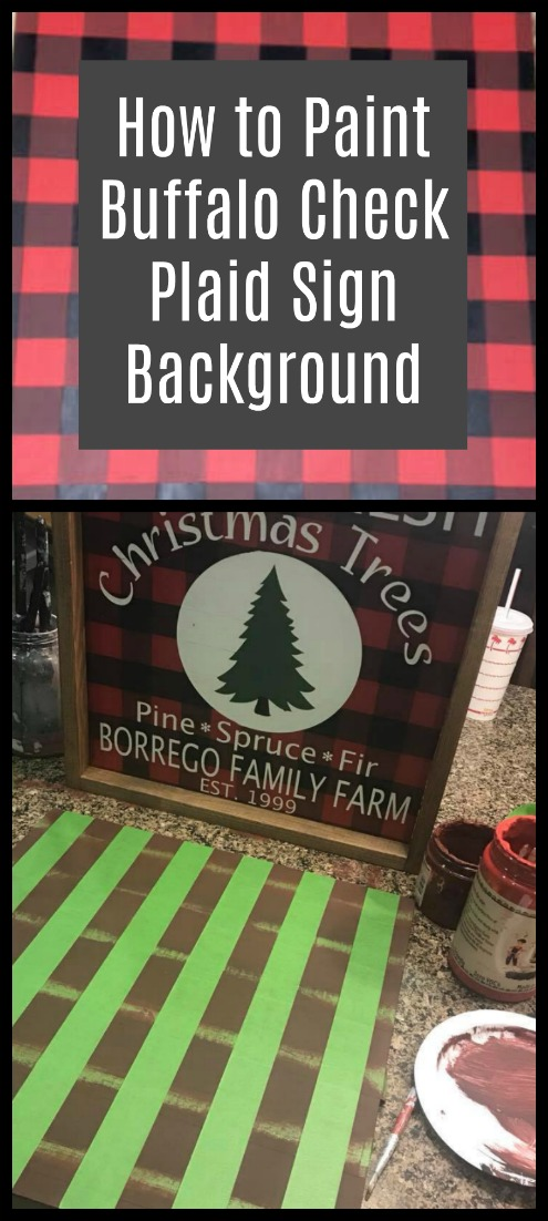 Learn to paint buffalo check plaid. This 3 color plaid makes such a great sign background!