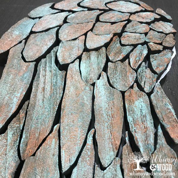 close up patina wing colors