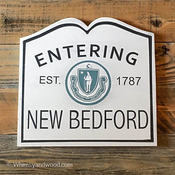 ENTERING NEW BEDFORD SIGN