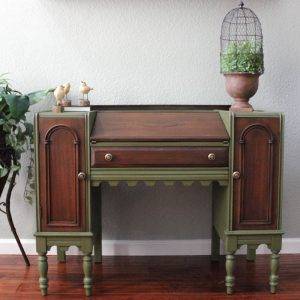 Green desk link to shop