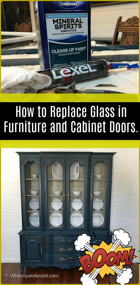 There are many reasons you may need to replace the glass in your cabinet doors. This tutorial shows you how to use silicone to replace the glass in your cabinet doors. This is the easiest way I have found to replace the glass in cabinet doors. #DIY #FURNITUREREPAIR #FURNITUREPROJECTS #GLASSREPAIR #PAINTEDFURNITURE