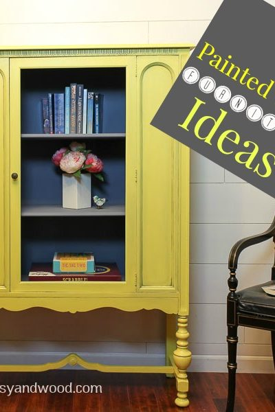 painted yellow furniture hutch & ideas (1)