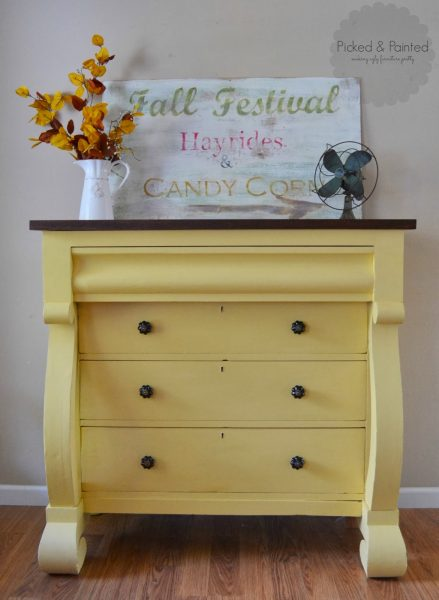 yellow painted furniture-Helen Nichole Designs