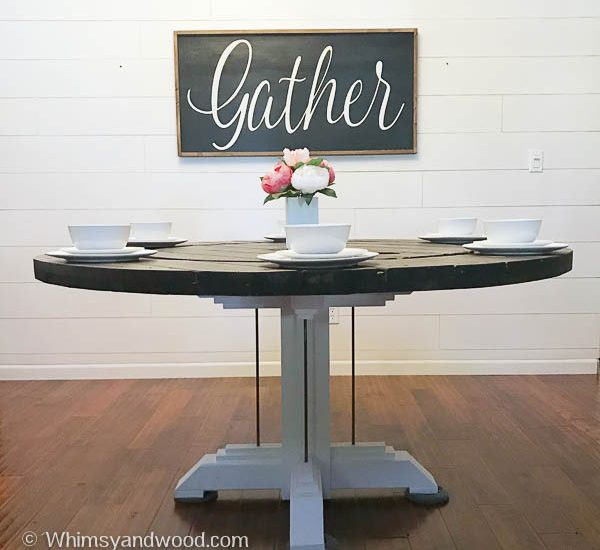 CABLE SPOOL DINING TABLE-6