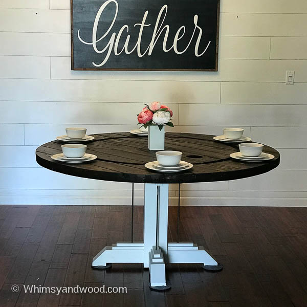 CABLE SPOOL DINING TABLE