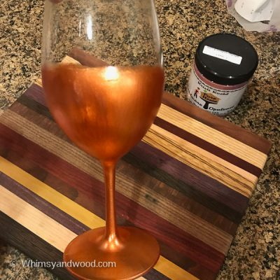 DIY Painted Wine Glasses with Metallic Paint